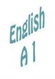 Езиково ниво A 1